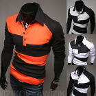 Fashion Men's Slim Fit Casual  Long Sleeve dressT-Shirt Shirts blouse Tops