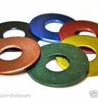 M4 x 12mm GWR Colourfast® Penny Washers - A2 Stainless Steel - Coloured Washer