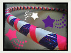 Amethyst Sky DANCE & EXERCISE Hula Hoop COLLAPSIBLE purple pink PUSH BUTTON