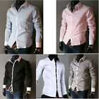 DISCOUNT Mens Solid Luxury Formal Business Long Sleeve Slim Fit Stylish Shirts