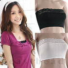 Women Lady Girl Lace Strapless Bra Top Tube Vest Chest Wrap Bandeau Underwear