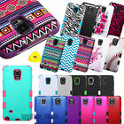 TUFF Hybrid Rubber Hard Protective Case Cover For Samsung Galaxy Note 4 New
