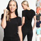 TheMogan V-Neck Short Sleeve Pullover Jersey Hooded Lounge Top