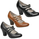 Womens Hush Puppies Lonna Mary Jane Dress Heeled Court Shoes UK Sizes 3 to 8