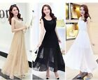 HOT SEXY WOMEN MAXI LONG COCKTAIL PARTY EVENING CHIFFON TOPS DRESS   3 COLORS