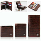 New Men's Genuine Leather Wallet Credit Card Brown Purse <MW034>