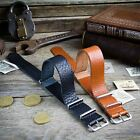 ZULUDIVER Genuine Leather NATO Watch Strap Black and Brown 18mm 20mm 22mm