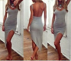 Sexy Womens Backless Sleeveless Bodycon Evening Party Cocktail Long Maxi Dress