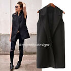 v19 CelebStyle Tailored Tuxedo Oversized Waistcoat Sleeveless Blazer Jacket Vest