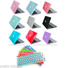 "Rubberized Crystal Case Cover For Macbook Air 11"" 13"" Pro Retina 13"" 15"" Laptop"