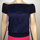 NWT Casual Short Sleeve with Stretchy Elastic Hip Band One Size Top Blouse