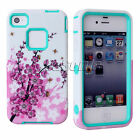 Classic Nice PC +Silicon Hard Cases Protective Cover Skin For Apple iPhone 4 4S