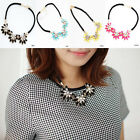 Hot Crystal Flower Necklace Choker Bib Chunky Collar Chain Brand New Gift