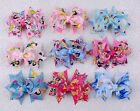 Lot 9pc 3inch girls Disney Cinderella cartoon ribbon Hair bows clip bowknot-2191