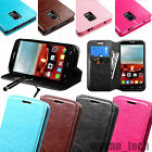 Leather Flip Wallet Card Holder Case Hybrid Cover Stand For Various Phones +Pen