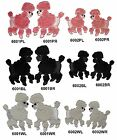 Pink,Black,White Sequins Poodle Dog Embroidery Iron On Applique Patch