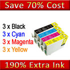 12 NON-OEN Ink Cartridges Replace for Epson T0715 T0615 Printers