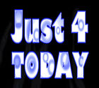Narcotics Anonymous -  Just 4 Today - Graphic T - Black or White-  -S-4X