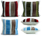 "Large Faux Silk Pleated Cushions or Covers 17X17"" Available in 7 Colors"