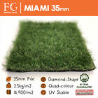 35mm Miami - High Quality Artificial Grass Fake Lawn Turf - Spongy & Organic