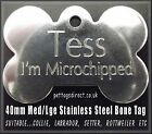 Quality Med/Large - Gun Metal Finish - Stainless Steel DOG BONE Pet Id Disc Tags