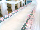 "25ft BRIDAL SATIN WEDDING POLYESTER FABRIC AISLE RUNNER 60"" WIDE ANY COLOR"