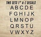 "ALPHABET VINYL DECAL KIT 2 Sets 1"" STICKERS DIY PROJECT MAIL"