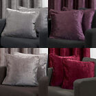 "18"" Woven Velvet Self Piped Pair Of Cushion Covers In Grey, Heather, Latte, Red"