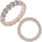 1 Carat G-H Diamond Engagement Wedding U Shape Full Eternity Ring 14K Pink Gold