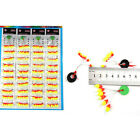 24PC Space Bean Floating Seat Fishing Pin Fishing Tackle Supplie Multicolor COOL