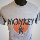 Monkey Magic (Grey) TV Themed Retro T Shirt Martial Arts Kung Fu Cult