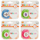Junior Macare Orthodontic Silicone Soother & Clip 6 Months+ Choice of Colours