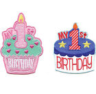 1st Birthday Boy or Girl Cake Iron-on / Sew-on Patch Badge Applique DIY Motif