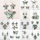 HOT 18 Style Abalone Shell Heart Butterfly Dragonfly Coin Earring & Pendant 1SET