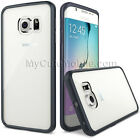 Samsung Galaxy S6 Edge Case Matte Clear Gummy Hard+TPU Durable Skin Combo Cover