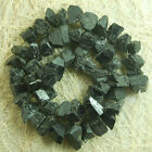 7x10-8x14mm Natural Black Tourmaline Freeform Beads 15.5""