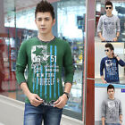 New 2015 Mens T-Shirts Casual Crew Neck Long Sleeve Fashion Designer XS S M L XL