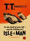 VINTAGE 1960'S TT ISLE OF MAN MOTORBIKE MOTORCYCLE RACE A3/A2 POSTER RE-PRINT