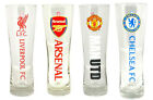 Premier League Football: Pilsner / Tulip Pint Glass - New In Pack LFC/MUFC/AFC