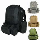 55L Molle Outdoor Military Tactical Bag Camping Hiking Trekking Backpack Travel