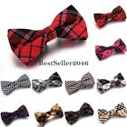 Men's British Style Plaids Checks Adjustable Casual Party Bowtie Bow Tie Cotton