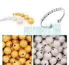 Silver&Golden plated stardust ball spacer beads Jewelry findings 3/4/5/6/8/10mm