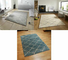 Royal Nomadic Two Tone Diamond Design Rug Soft Shaggy Pile Home Decor Large Mat