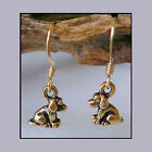 TierraCast Pewter TINY Sitting PUPPY DOG Youth Earrings * select Gold OR Silver
