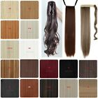 Women Claw on Warp Around Human Ponytail Clip in Hair Extensions hairpieces 1OO3