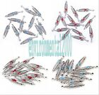 Wholesale 10pcs Tibet silver Feather Charm Pendant beaded Jewelry Findings x27mm