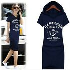Hot Women Lady Short Sleeve Loose Hooded Bodycon Knee-Length Casual Dresses LJ