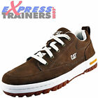 Caterpillar Mens Decade Premium Suede Leather Outdoor Trainers Brown *AUTHENTIC*