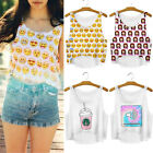 New Women Summer Short-cut Tops Crop Top Vest Tank Tops Digital 3D Print T Shirt