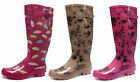 County Classic Print Wellies Women Long Wellington Boots All Sizes and Colors